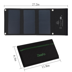 ZEEFO 21W Solar Charger With SunPower Portable and Foldable Solar Panels
