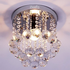 ZEEFO Crystal Chandeliers, Modern Decor Mini Style 1 Light